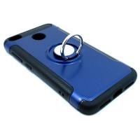 Чехол для Xiaomi Redmi 4X  из ТПУ и пластика с кольцом синий