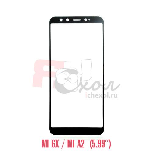 Xiaomi  Mi 6X/A2 полноразмерное 3D-стекло для цвет рамки - черный