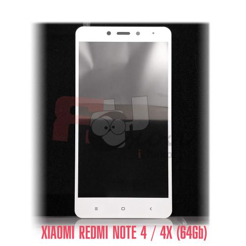 Полноразмерное 3D-стекло для Xiaomi Redmi Note 4 цвет фрейма - белый, световой индикатор справа