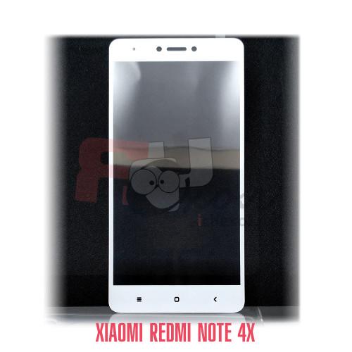 Полноразмерное 3D-стекло для Xiaomi Redmi Note 4X цвет рамки - белый, световой индикатор слева.