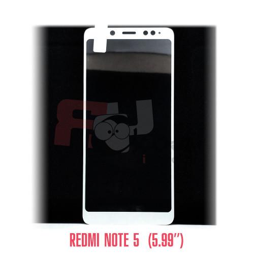 """Xiaomi  Redmi Note 5 (5.99"""") полное покрытие 5D-стекло для цвет рамки - белый"""