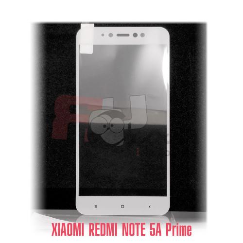 Xiaomi  Redmi Note 5A prime полное покрытие 3D-стекло для цвет рамки - белый