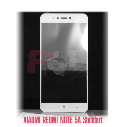 Xiaomi  Redmi Note 5A standart полное покрытие 3D-стекло для цвет рамки - белый