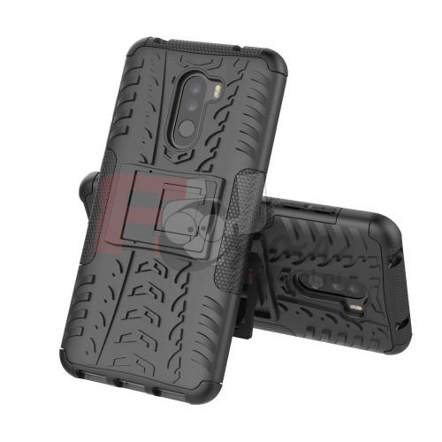 Чехол для Xiaomi Pocophone F1 из ТПУ-резины и пластика противоударный черный