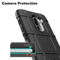Чехол-бампер для Xiaomi Pocophone F1 (6,18'')  из ТПУ-резины Rugged Shield черный