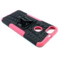 Чехол для Xiaomi Mi 5X / Mi A1 из ТПУ и пластика противоударный розовый двухкомпонентный