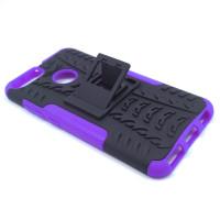 Чехол для Xiaomi Mi 5X / Mi A1 из ТПУ и пластика противоударный фиолетовый двухкомпонентный