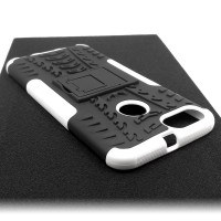 Чехол для Xiaomi Mi 5X / Mi A1 из ТПУ и пластика противоударный белый двухкомпонентный