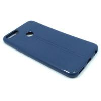 "Чехол для Xiaomi Mi 5X / Mi A1 из ТПУ с текстурой ""под кожу"" синий"