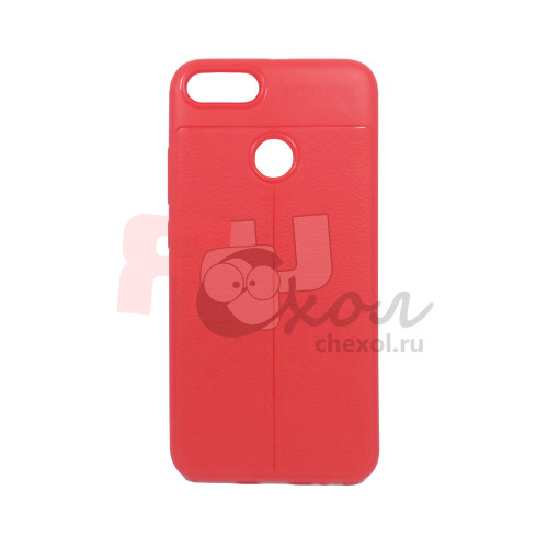 """Чехол для Xiaomi Mi 5X / Mi A1 из ТПУ с текстурой """"под кожу"""" красный"""