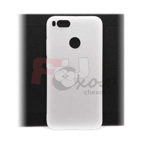 Чехол для Xiaomi Mi 5X / Mi A1 из ТПУ матовый белый полупрозрачный
