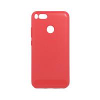 Чехол для Xiaomi Mi 5X / Mi A1  из ТПУ стилизованный под карбон красный