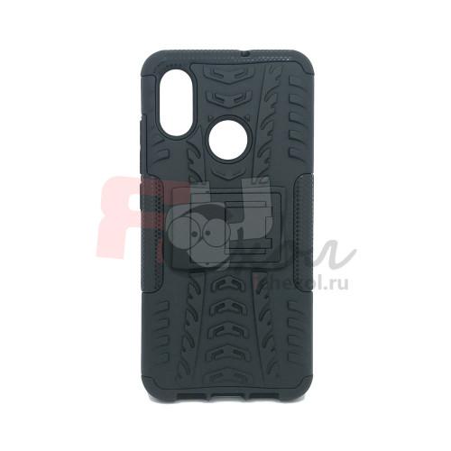 Чехол для Xiaomi Mi 8 из ТПУ-резины и пластика противоударный черный