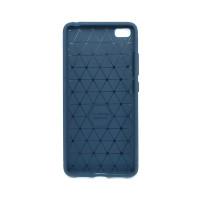 """Чехол для Xiaomi Mi 5S из ТПУ-резины """"под карбон"""" navy blue"""
