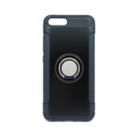 Чехол для Xiaomi Mi6  из ТПУ и пластика с кольцом черный