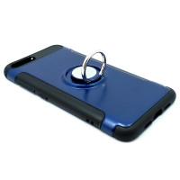 Чехол для Xiaomi Mi6  из ТПУ и пластика с кольцом синий