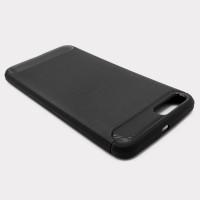 """Чехол для Xiaomi Mi 6 из ТПУ-резины """"под карбон"""" черный"""