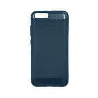 """Чехол для Xiaomi Mi 6 из ТПУ-резины """"под карбон"""" navy blue"""