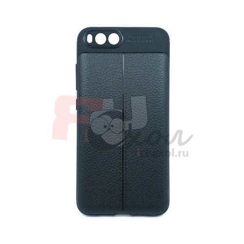 """Чехол для Xiaomi Mi 6  из ТПУ с текстурой """"кожа"""" черный"""