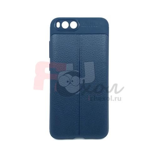 """Чехол для Xiaomi Mi 6  из ТПУ с текстурой """"кожа"""" цвет navy"""
