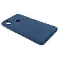 Чехол для Xiaomi Mi 6X / A2 из ТПУ-резины матовый синий