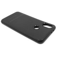 """Чехол для Xiaomi Mi 6X / A2 из ТПУ-резины """"под кожу"""" черный"""