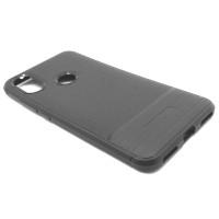 """Чехол для Xiaomi Mi 6X / A2 из ТПУ-резины """"под кожу"""" серый"""