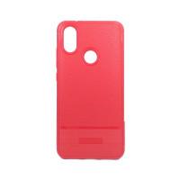 """Чехол для Xiaomi Mi 6X / A2 из ТПУ-резины """"под кожу"""" красный"""
