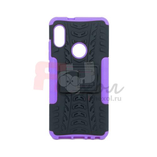 Чехол для Xiaomi Redmi Note 5 из ТПУ-резины и пластика противоударный фиолетовый