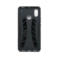 Чехол для Xiaomi Mi Max 3 из ТПУ и пластика противоударный черный двухкомпонентный