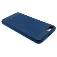 Чехол для Xiaomi Mi Note 3 из ТПУ стилизованный под карбон navy