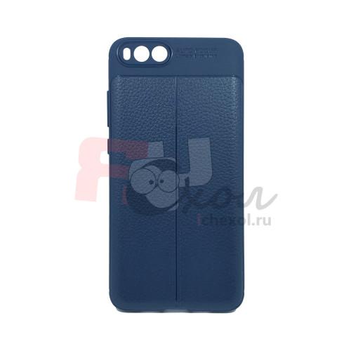 Чехол для Xiaomi Mi Note 3 из ТПУ стилизованный под кожу navy