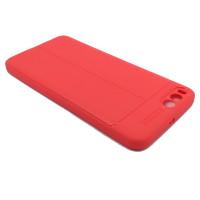 Чехол для Xiaomi Mi Note 3 из ТПУ стилизованный под кожу красный