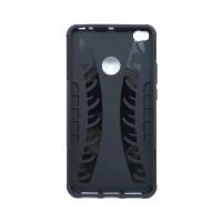 Чехол для Xiaomi Mi Max 2 из ТПУ и пластика противоударный черный двухкомпонентный