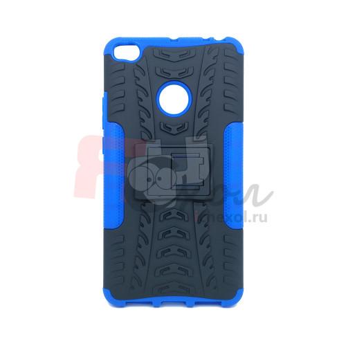 Чехол для Xiaomi Mi Max 2 из ТПУ и пластика противоударный синий двухкомпонентный