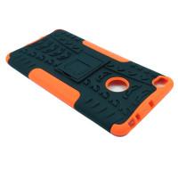 Чехол для Xiaomi Mi Max 2 из ТПУ и пластика противоударный оранжевый двухкомпонентный