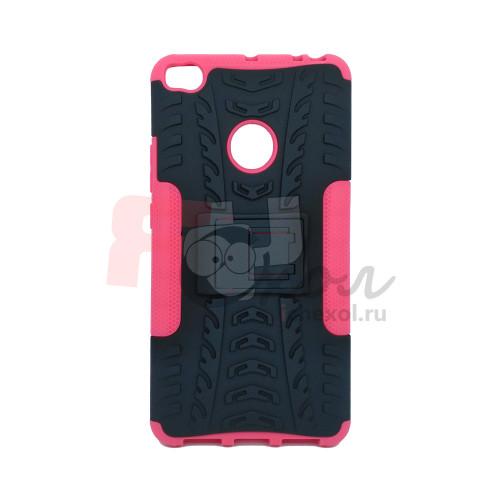 Чехол для Xiaomi Mi Max 2 из ТПУ и пластика противоударный розовый двухкомпонентный