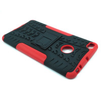 Чехол для Xiaomi Mi Max 2 из ТПУ и пластика противоударный красный двухкомпонентный