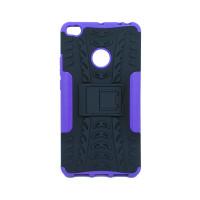 Чехол для Xiaomi Mi Max 2 из ТПУ и пластика противоударный фиолетовый двухкомпонентный