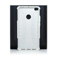 Чехол для Xiaomi Mi Max 2 из ТПУ и пластика противоударный белый двухкомпонентный