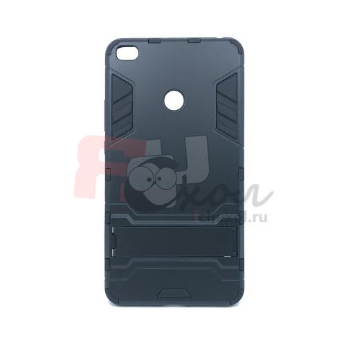 Чехол для Xiaomi Mi Max 2 из ТПУ и пластика Ironman2 (Железный человек) черный