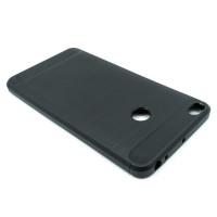 """Чехол для Xiaomi Mi Max 2  из ТПУ-резины """"под карбон"""" черный"""
