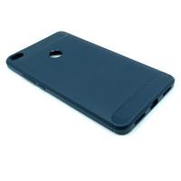 """Чехол для Xiaomi Mi Max 2  из ТПУ-резины """"под карбон"""" navy-blue"""
