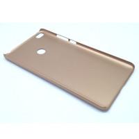 Чехол-накладка для Xiaomi Mi Max 2  из прорезиненного пластика золото