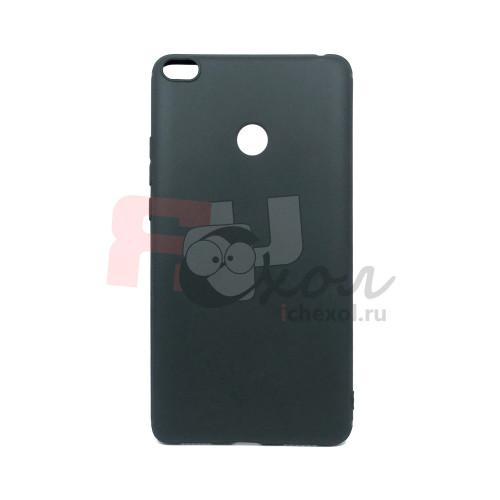 Чехол для Xiaomi Mi Max 2  из  ТПУ  матовый черный