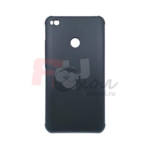 Чехол для Xiaomi Mi Max 2  из жесткого ТПУ  антишок в углах черный