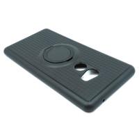 Чехол для Xiaomi Mi Mix 2 с пластиковым черным кольцом и металлической пластиной