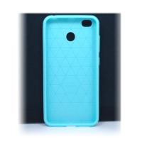 """Чехол для Xiaomi Redmi 4X из ТПУ стилизован под """"карбон"""" бирюзовый"""
