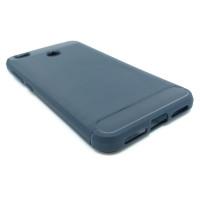 Чехол для Xiaomi Redmi 4X из ТПУ стилизованный под карбон navy