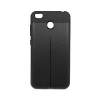 """Чехол для Xiaomi Redmi 4X из ТПУ с текстурой """"под кожу"""" черный"""